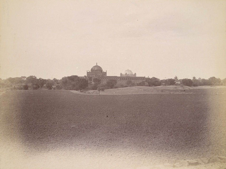 Distant view of the Jami Masjid, Gol Gumbaz beyond, Bijapur